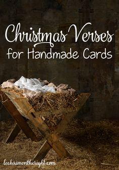 Christmas Verses for Handmade Cards