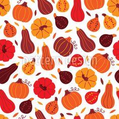 Pumpkin Variations Repeat by Mylana Musiienko at patterndesigns.com Vector Pattern, Pattern Design, Warm Colors, Surface Design, Repeat, Pumpkin, Autumn, Patterns, Decoration