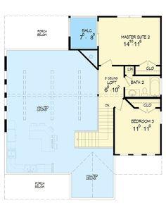 Back Woods 3 Bed House Plan - 68401VR floor plan - 2nd Floor