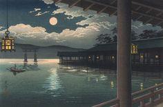 Tsuchiya Koitsu. Летняя луна над Миядзимой, 1936 (700x460, 204Kb)