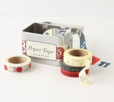 Numbers Paper Tape - $18  I didn't truly appreciate decorative tape until I started using it; now, I simply can't get enough. It's perfect f...