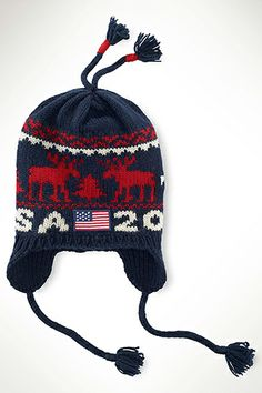 There are only a few weeks left before the Opening Ceremony on Feb. so get ready for Sochi 2014 with 10 things that will make you feel like you're at the Winter Olympics. Us Olympics, Winter Olympics, Reindeer Hat, Winter Olympic Games, Olympic Team, Team Usa, Knitted Hats, Winter Hats, Ralph Lauren