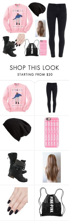 """""""best shirt ever"""" by raregold on Polyvore featuring beauty, Paige Denim, Free People, Casetify and ncLA"""