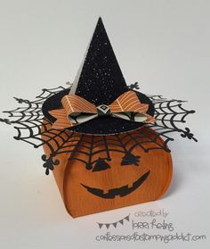 Halloween Pumpkin :: Confessions of a Stamping Addict Lorri Heiling Project from Susan Adams and Janet Baker's class