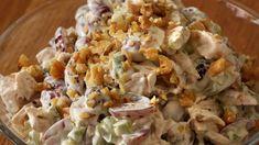 Druesalat med kalkun Pasta Salad, Potato Salad, Food And Drink, Potatoes, Ethnic Recipes, Crab Pasta Salad, Potato