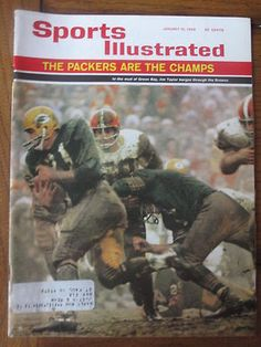 January 10, 1966 SPORTS ILLUSTRATED GREEN BAY PACKERS NFL CHAMPIONS CHAMPS