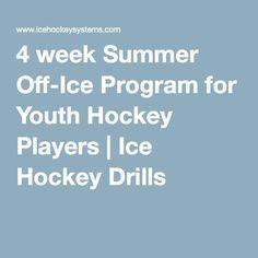 Ice Hockey 854698835521132182 - 4 week Summer Off-Ice Program for Youth Hockey Players Hockey Workouts, Agility Workouts, Hockey Drills, Hockey Players, Youth Hockey, Hockey Mom, Ice Hockey, Hockey Stuff, Pittsburgh Penguins Hockey