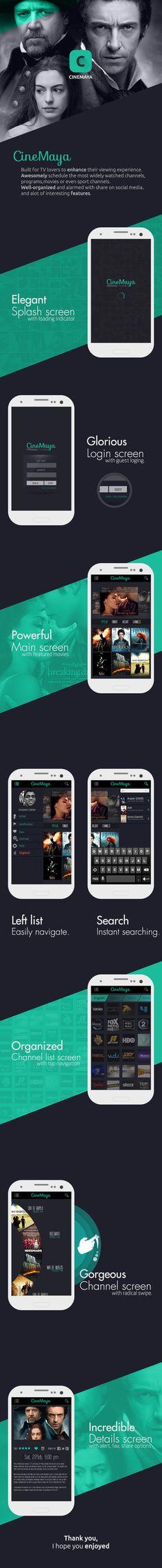 CineMaya app. by Hussein Gaber, via Behance