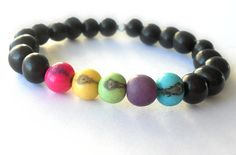 Colourful Unisex Stacking Bracelet // Eco by theblackstarboutique, $23.50
