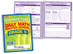 Common Core Daily Math Practice Journal - Gr. 5 - Each