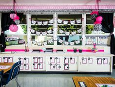 Parisian Classroom | Teacher Created Resources - Adorable classroom theme with black, white and pink accents.  Features stripes, polka dots, lace, damask and more!  Great for any teacher who loves Paris, or anyone throwing a Parisian party!