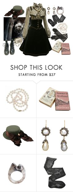 """""""Victorian fashion"""" by georginasmith-wastaken ❤ liked on Polyvore featuring DaVonna, Kenzo, Fogal and Max and Cleo"""