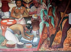 Rivera painted murals among others in Mexico City, Chapingo, Cuernavaca, San Francisco, Detroit, and New York City.[1] In 1931, a retrospective exhibition of his works was held at the Museum of Modern Art in New York City