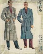 An original ca. 1943 McCall's pattern 5465.  Men's & Youth's Robe.