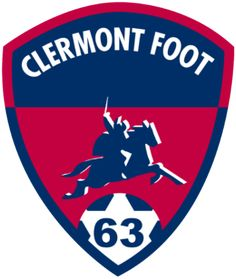 6163a059eb37 Logo du Clermont Foot 63 (Clermont Foot 63 - Wikipedia) Fc Lorient, Brestois