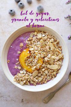Fruit Recipes, Fall Recipes, Healthy Recipes, Granola, Kids Meals, Easy Meals, Baked Peach, Yogurt Bowl, Fruit In Season