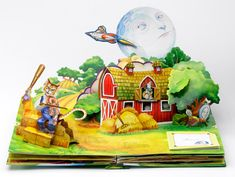 Photo gallery of the making of a Pop Up Book: el gato violinista