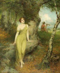 Ferdinand Leeke - Nymph and Shepherd