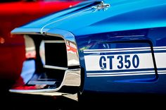 1969 Ford Mustang Shelby GT350 Grille Emblem - Jill Reger - Photographic prints for sale