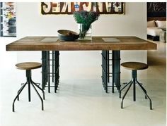 Rebar Dining Table - eclectic - dining tables - Environment Furniture