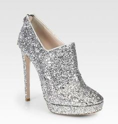 #Glittercoated Platform Ankle Boots