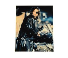 "vintage Snake Plissken photograph photo print Escape from New York 16""x20"" Kurt Russell John Carpenter Fujicolor paper"
