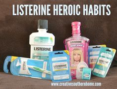 LISTERINE heroic habits.  Find out how to have better oral care.  #sponsored #mc