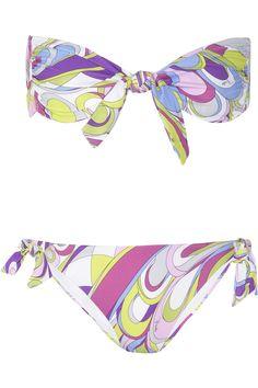 09cf2b9d87 Emilio Pucci - Baby Rio printed bandeau bikini