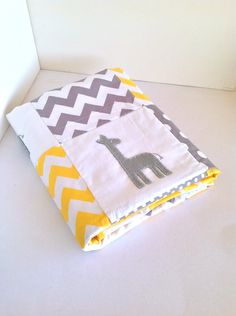 Giraffe Baby  Crib Quilt ....Made after you order. $170.00, via Etsy.