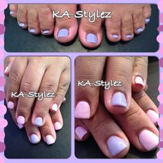Rosa Acosta's pedicure & OPI Gel Color application on her natural nails