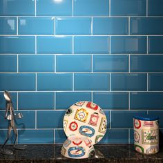 The shiny effect of the Essentials Gloss Teal metro tile looks fantastic when contrasted with white grout Metro Tiles Bathroom, Kitchen Tiles, Small Bathroom, Family Bathroom, Blue Tiles, Tile Design, Wall Tiles, Tile Floor, Design Inspiration
