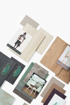 This mood board was commissioned by Decotec to communicate their new surface collection in a less technical and more creative way.  The materials board is based on the interior design trend Unknown Terrain we previously developed for the client. #moodboard #eclectictrends #moodboardacademy #materialsboard