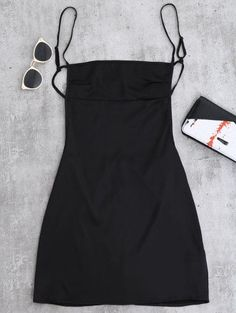 SHARE & Get it FREE | Backless Mini Slip Dress - BlackFor Fashion Lovers only:80,000+ Items • New Arrivals Daily Join Zaful: Get YOUR $50 NOW!