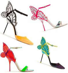 Sophia Webster Butterfly pumps- Elisabetta S. Fancy Shoes, Pretty Shoes, Crazy Shoes, Beautiful Shoes, Cute Shoes, Me Too Shoes, Weird Shoes, Butterfly Shoes, Butterfly Kisses
