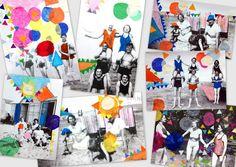 les petites têtes de l'art: Stage d'été, collages, souvenirs de vacances