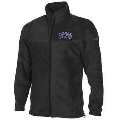 Columbia TCU Horned Frogs Flanker Full Zip Fleece Jacket - Black
