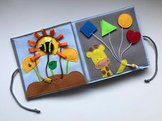 This quiet book PAGE teaches the toddlers the colors and shapes. It works with velcro. You can choose the figure and the colors as well. Custom ideas are welcome! This page can be ordered separately or as part of a quiet book or mini quiet book. For a whole quiet book you should choose 6