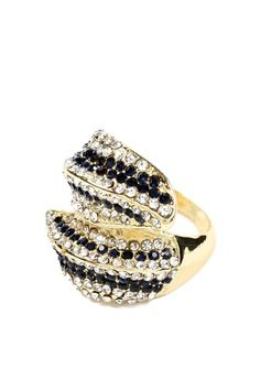 Beatrice Ring by Top Trend: Black & Gold Jewelry on @HauteLook