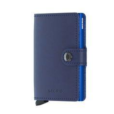 Portacarte portafoglio Secrid Miniwallet Original in pelle blu. Per acquisti: https://www.calzaveste.it/accessori/piccola-pelletteria/portacarte-portafoglio-secrid-miniwallet-original/
