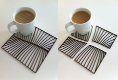 Some pre-production lasercutting tests of the beautiful Grain coasters... in action!