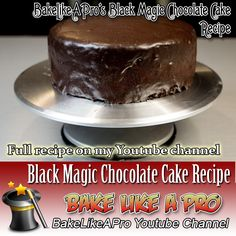 My Black Magic Chocolate Cake Recipe - click the link to see this video recipe on my Youtube channel Fudge Recipes, My Recipes, Cake Recipes, Magic Chocolate Cake, Chocolate Recipes, Black Magic Chocolates, Chocolate Ganache Glaze, Chocolate Decorations, Best Food Ever