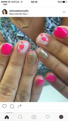 Make an original manicure for Valentine's Day - My Nails Get Nails, Fancy Nails, Love Nails, Hair And Nails, Fabulous Nails, Gorgeous Nails, Pretty Nails, Shellac Nails, Nail Polish