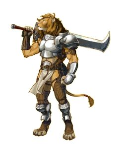 Male Leonal Agathion - Pathfinder PFRPG DND D&D 3.5 5th ed d20 fantasy