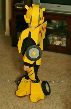 Cool Bumblebee Autobot Homemade Costume for Toddlers - 3