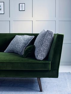 Tallulah Chaise in Bespoke Velvet with Mixed Cushions