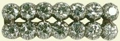 14 Diamond Garter Bar Brooch. Queen Mary used a brooch with 14 diamonds set in two even rows of 7, unclear whether it was created specifically for her or if it has another provenance entirely. Likely passed to the Queen with the rest of Queen Mary's remaining jewelry. And while the Queen has used it for its designated sash-securing purpose, she's also worn it outside of the realm of insignia, just as she would any other decorative brooch in her collection, though those occasions are rather…