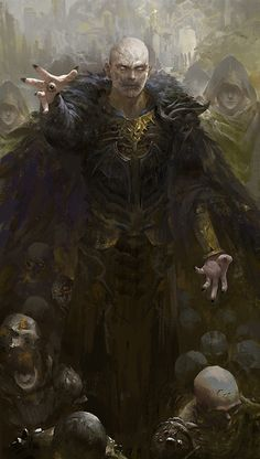 Necromancers: Men who have turned to the dark arts in a desperate attempt to preserve their own flesh beyond that which is normal. Though living themselves—even if only just—they are generally the masters of the undead, for it is their magic which binds the corpses to the material plane.
