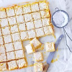 Fast lime cubes with shortcrust pastry, Lemon Recipes, Egg Recipes, Dessert Recipes, Pastry Recipes, Drink Recipes, Cube Recipe, Cheesecake Cookies, Lemon Cheesecake, Shortcrust Pastry