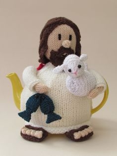 Jesus Tea Cosy Knitting Pattern by TeaCosyFolk on Etsy