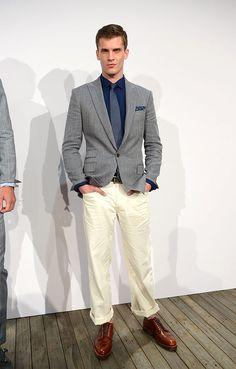 J Crew coleccion primavera verano 2014 New York Fashion Week Blazers, J Crew, Gq, Men's Style, Mens Fashion, Shorts, Spring Summer, Suits, Male Style